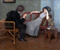 Conversation | Simon Glucklich | Oil Painting