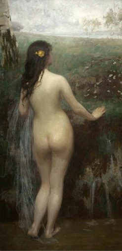 Nude Woman in a Landscape | Simon Glucklich | Oil Painting