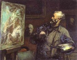 Self Portrait | Honore Daumier | Oil Painting
