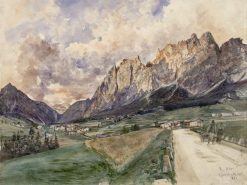 Die Pomagagnonwande mit Cortina dAmpezzo | Rudolf von Alt | Oil Painting