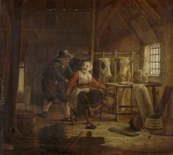 Courtship in a Cowshed | Govert Dircksz. Camphuysen | Oil Painting