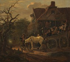 The Halting Place   Govert Dircksz. Camphuysen   Oil Painting