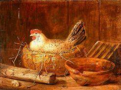A hen on the nest | Govert Dircksz. Camphuysen | Oil Painting