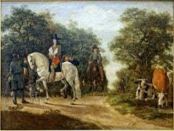 Gentlemen Hunting | Govert Dircksz. Camphuysen | Oil Painting