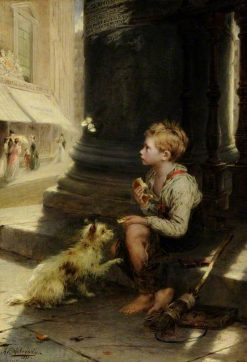 A Share of a Crust | Augustus Edwin Mulready | Oil Painting
