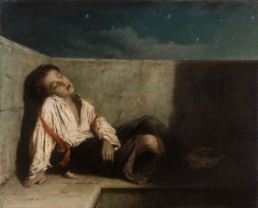 A Recess on a London Bridge | Augustus Edwin Mulready | Oil Painting