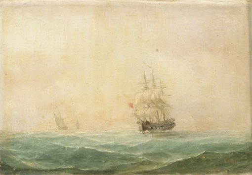 A Frigate Running before the Wind | Edward Hoyer | Oil Painting