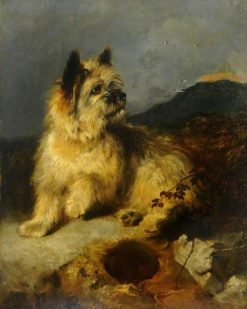 A Terrier by a Rabbit Hole | George Earl | Oil Painting