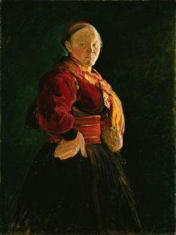 Portrait of Mari Clasen   Halfdan Egedius   Oil Painting