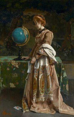 Nouvelles de labsent | Alfred Emile Leopold Stevens | Oil Painting