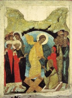 The Descension to Hell   Andrei Rublev   Oil Painting