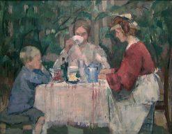 Breakfast in the Garden | Henrik Lund | Oil Painting