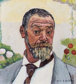 Self-portrait with rose | Ferdinand Hodler | Oil Painting