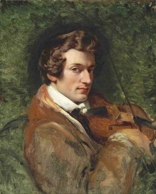 Portrait of Charles Auguste de Beriot | Horace Vernet | Oil Painting