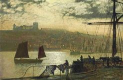 Whitby Abbey and Church | John Atkinson Grimshaw | Oil Painting
