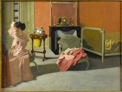 Femme se coiffant | Felix Vallotton | Oil Painting