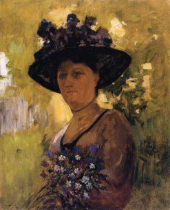 Woman with a Hat | Nikolai Pimonenko | Oil Painting