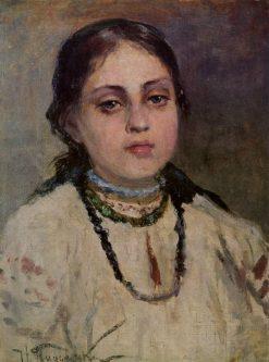 Girl in a Ukrainian Costume | Nikolai Pimonenko | Oil Painting
