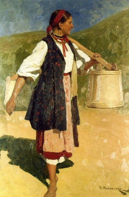 Girl with Buckets | Nikolai Pimonenko | Oil Painting