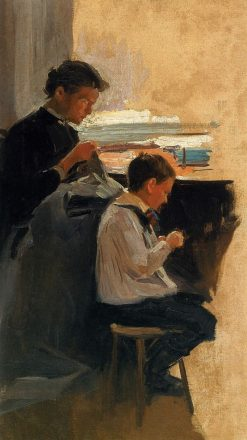 Woman with a Boy | Nikolai Pimonenko | Oil Painting