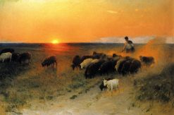 Sunset | Nikolai Pimonenko | Oil Painting