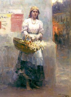 Flower Seller. Kiev | Nikolai Pimonenko | Oil Painting