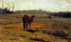 A Cow in a Meadow | Nikolai Pimonenko | Oil Painting