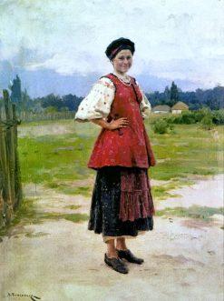 A Young Woman | Nikolai Pimonenko | Oil Painting