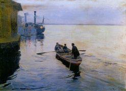 On the Dnieper | Nikolai Pimonenko | Oil Painting