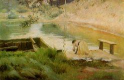 The Washerwoman | Nikolai Pimonenko | Oil Painting