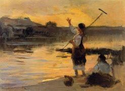 Returning from the Fields | Nikolai Pimonenko | Oil Painting