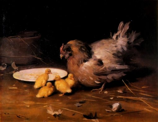 Hen with Chickens | Nikolai Pimonenko | Oil Painting