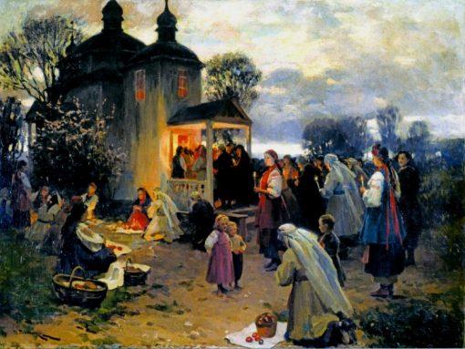 Easter in Ukraine | Nikolai Pimonenko | Oil Painting
