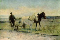 Ploughing | Nikolai Pimonenko | Oil Painting