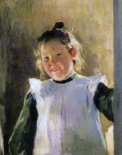 Portrait of the Artists Daughter Olga | Nikolai Pimonenko | Oil Painting