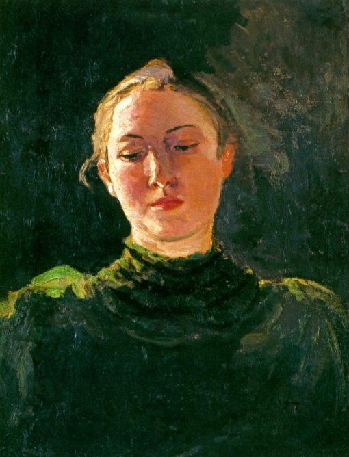 Portrait of a Girl   Nikolai Pimonenko   Oil Painting