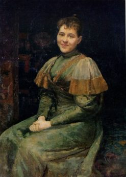 Portrait of the Artists Wife Alexandra | Nikolai Pimonenko | Oil Painting