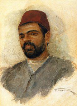 Portrait of a Turkish Man | Nikolai Pimonenko | Oil Painting
