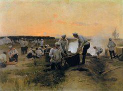 Soldiers Resting | Nikolai Pimonenko | Oil Painting