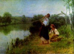 By the River | Nikolai Pimonenko | Oil Painting
