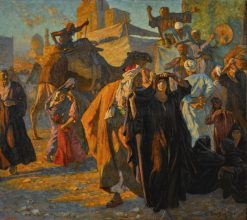 A Street Celebration in Cairo | Ludwig Deutsch | Oil Painting