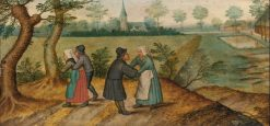 Two Peasant Couples | Pieter Brueghel the Younger | Oil Painting
