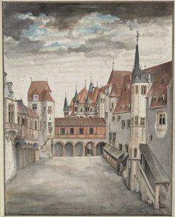 Hof der Innsbrucker Burg | Albrecht Durer | Oil Painting