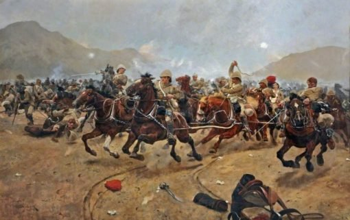 Maiwand 1880 -  Saving the Guns | Richard Caton Woodville the Younger | Oil Painting
