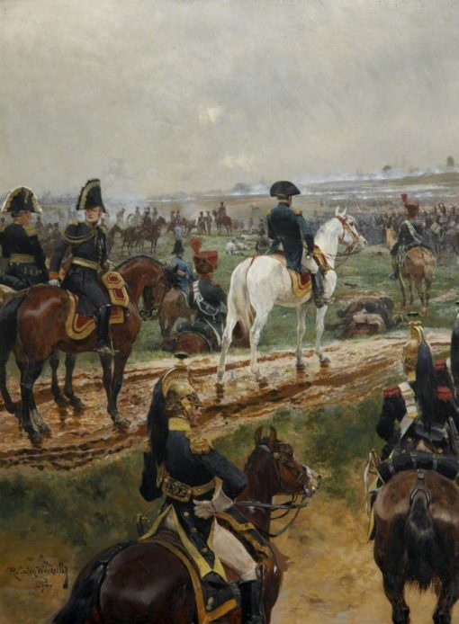 Napolean and His Marshals Watching a Battle | Richard Caton Woodville the Younger | Oil Painting