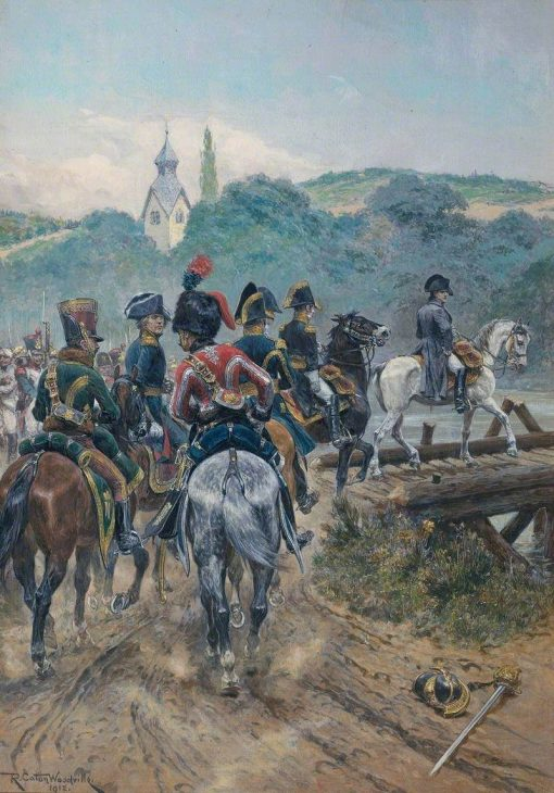 Napoleon Crossing the Bridge to Lobau Island | Richard Caton Woodville the Younger | Oil Painting