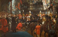 Queen Victoria Knighting Herbert Ashman