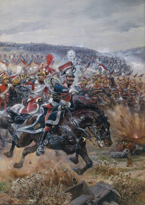 Poniatowskis Last Charge at Leipzig | Richard Caton Woodville the Younger | Oil Painting