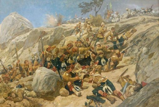 The Storming of the Heights at Dargai by the Gordon Highlanders   Richard Caton Woodville the Younger   Oil Painting