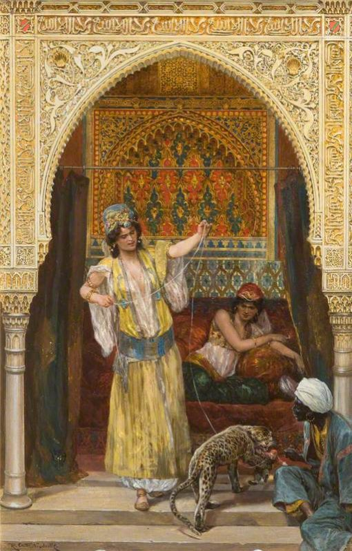 The Pet of the Harem   Richard Caton Woodville the Younger   Oil Painting